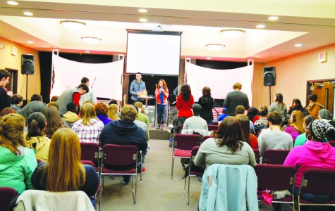 Students gather for weekly worship at BCM