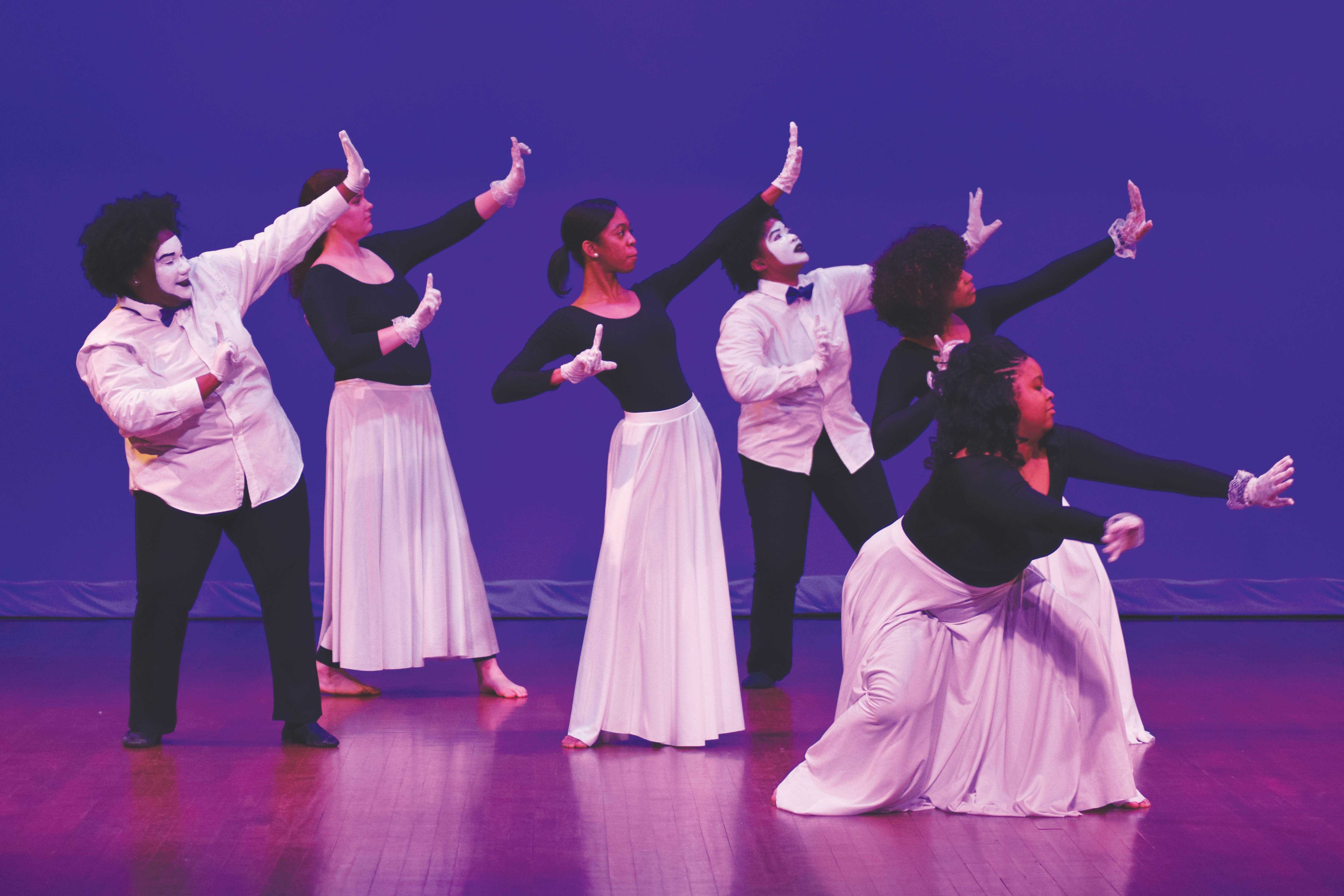 Praise in Motion Dance Ministry performs to celebrate contributions Martin Luther King Jr. made to the Civil Rights movement.