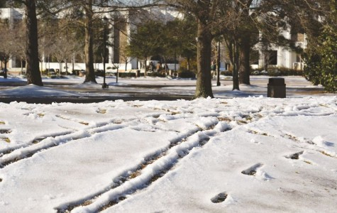 Snow brings slippery start to spring semester
