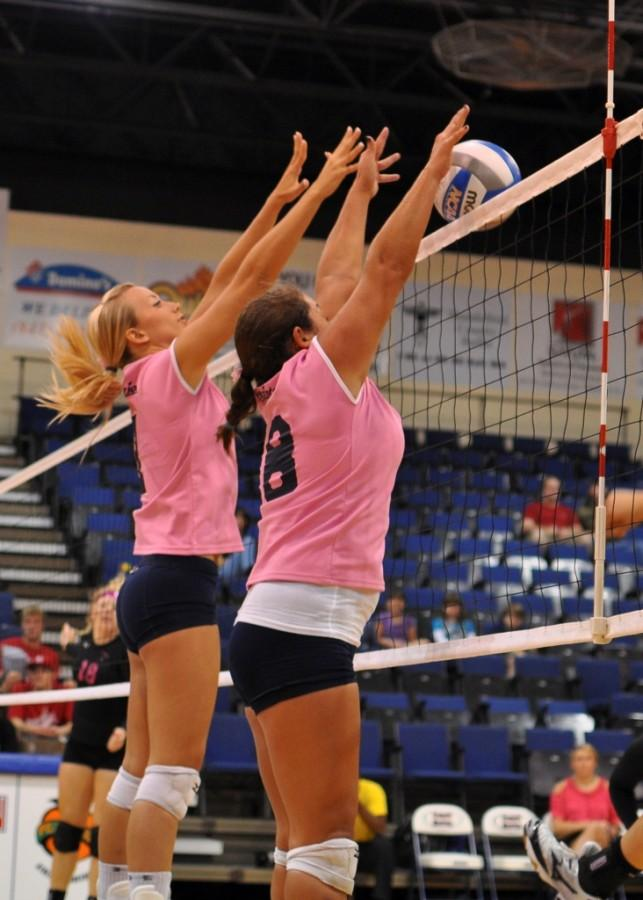 FMU volleyball team shines in Dig Pink match