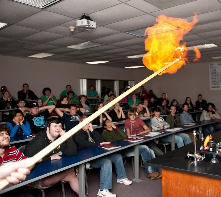 Physics Department brings high school scholars to campus