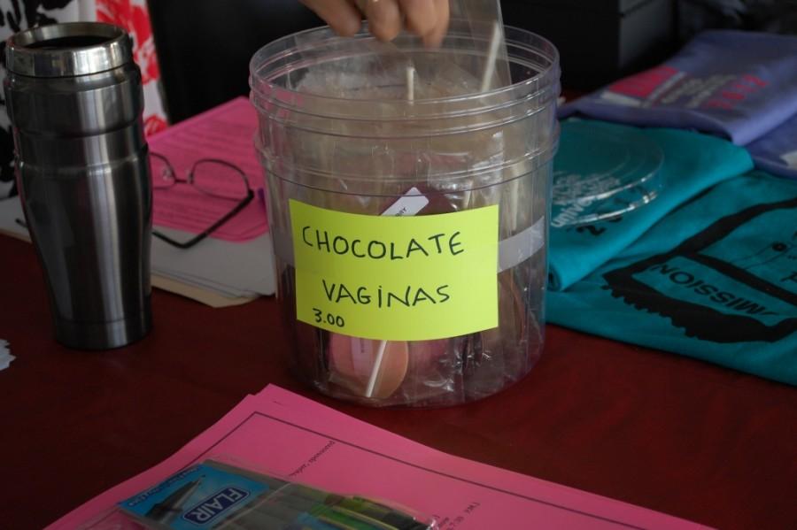 V-Week activities underway, chocolate vaginas for sale