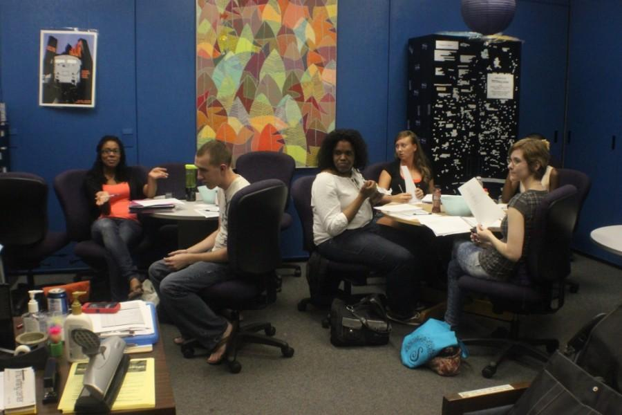 Snow Island Review staff approves submissions for 2011-2012 issue