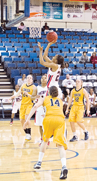 Lady Pats' defense suffocates Coker 68-54