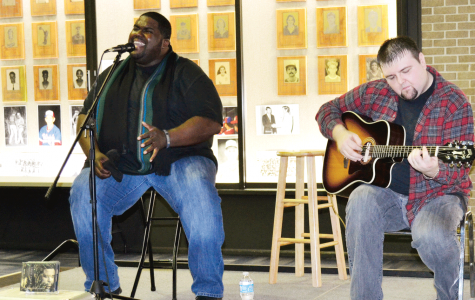 Artist Chinua Hawk performs live at UPB coffee shop night