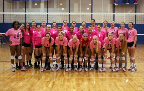 Volleyball sweeps Barton in Dig Pink match