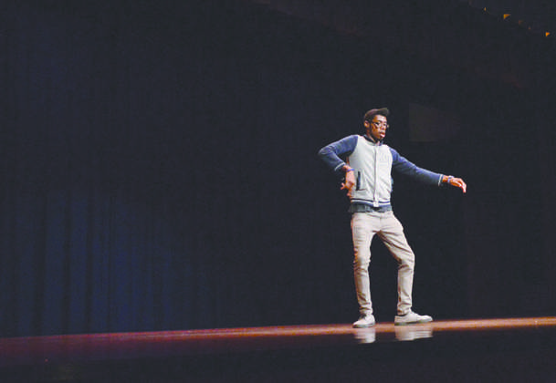 John Gee, a sophomore visual communication major captured the audience's attention with his dancing.