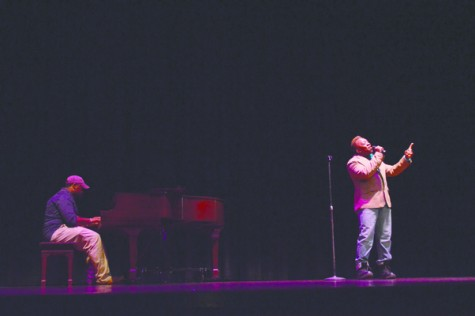 "Alex Smoot and CurkRoy Brown sang Janine and the Mixtape's ""Hold Me"" during the Coalition's Talent Show."