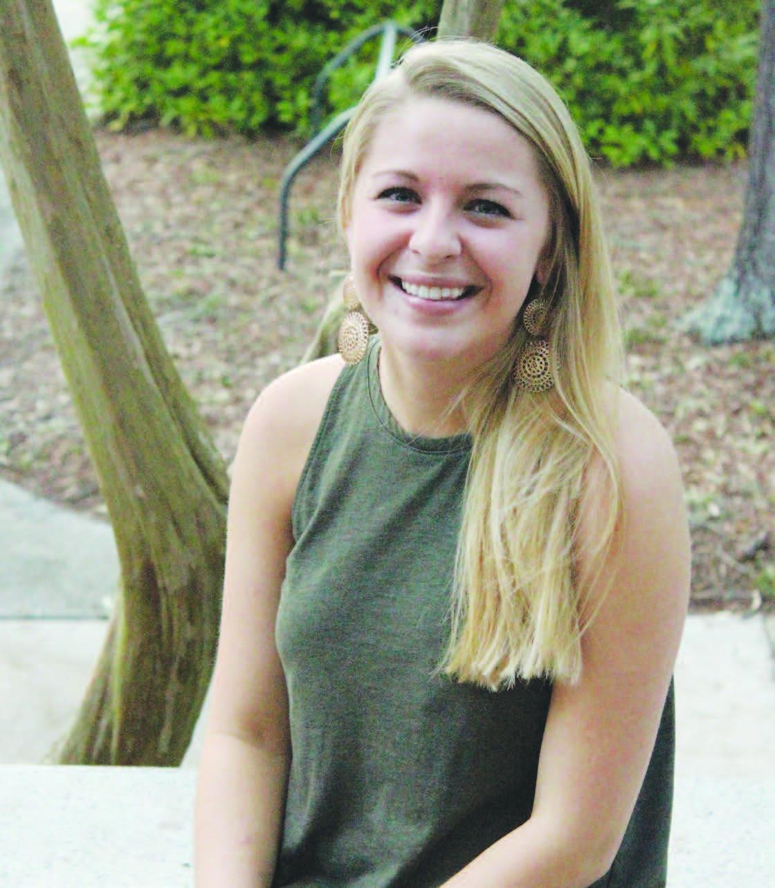 Junior nursing student Grayson Hucks returns to campus and anticipates resuming classes once her brain injury heals.