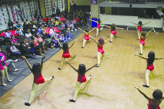 The Dimensions of Diversity dance team entertains the audience with a performance during the 2016 Homecoming Dance. Project Dance also performed at the event.