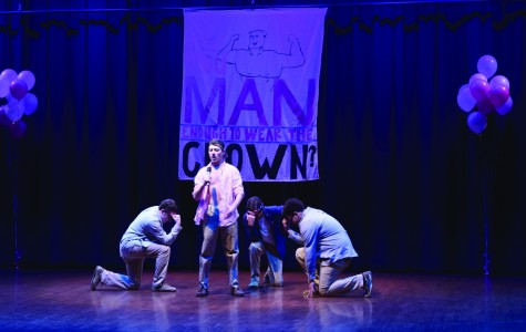 """Chandler Sain lip syncs the Backstreet Boys song, """"I Want It That Way"""" during the 2016 Big Man on Campus."""