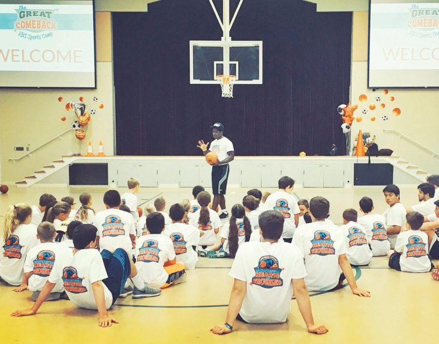 Senior sociology major Rashad Hancock served with UW Sports Ministry, teaching children sports and Bible stories.