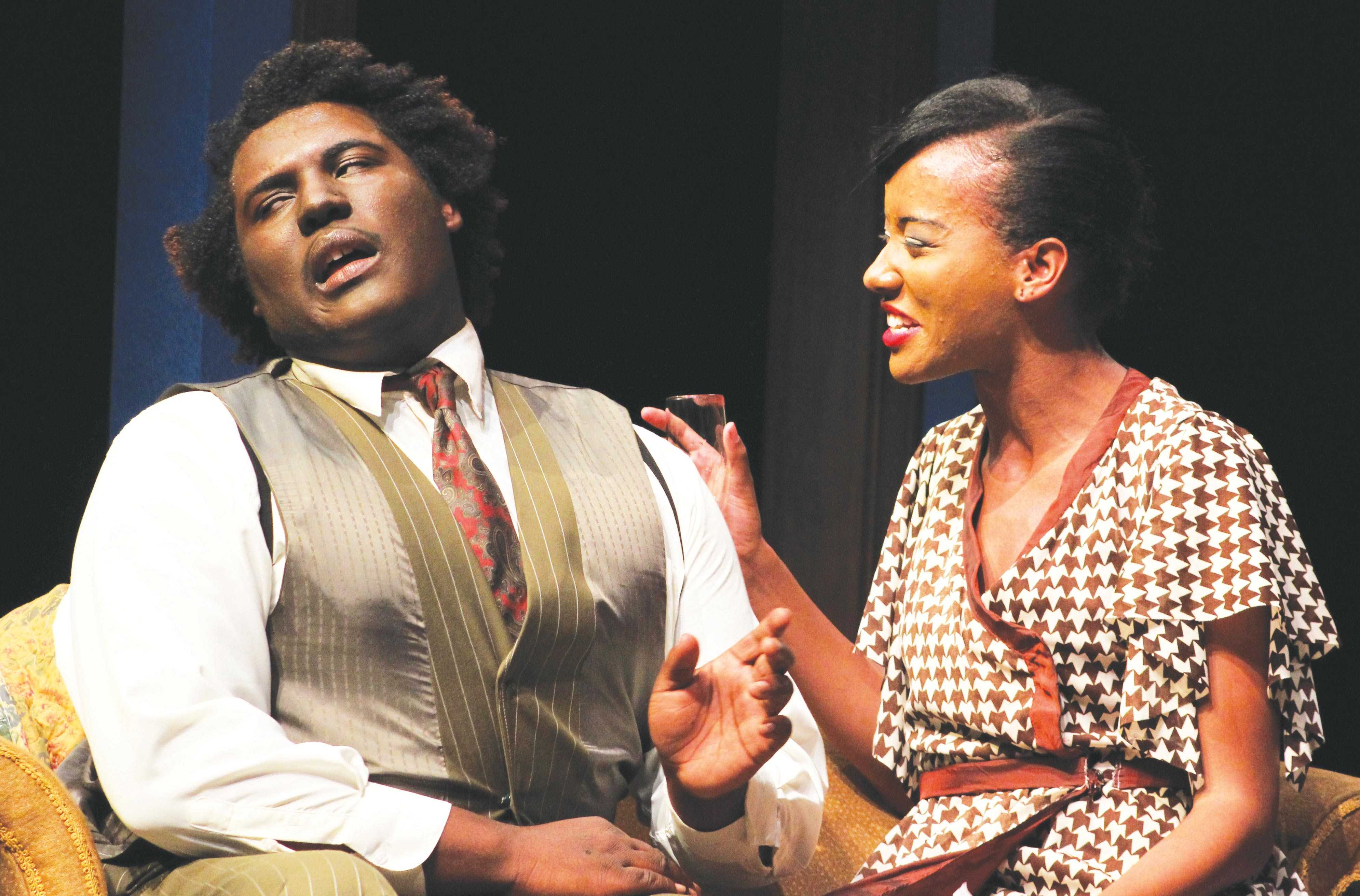 "The all-African-American cast of ""Blues for an Alabama Sky"" was chosen to represent FMU's minority diversity."