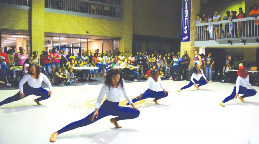 The Dimensions of Diversity dance team performs at the meet and greet. DoD started in 2002 to help girls be expressive.