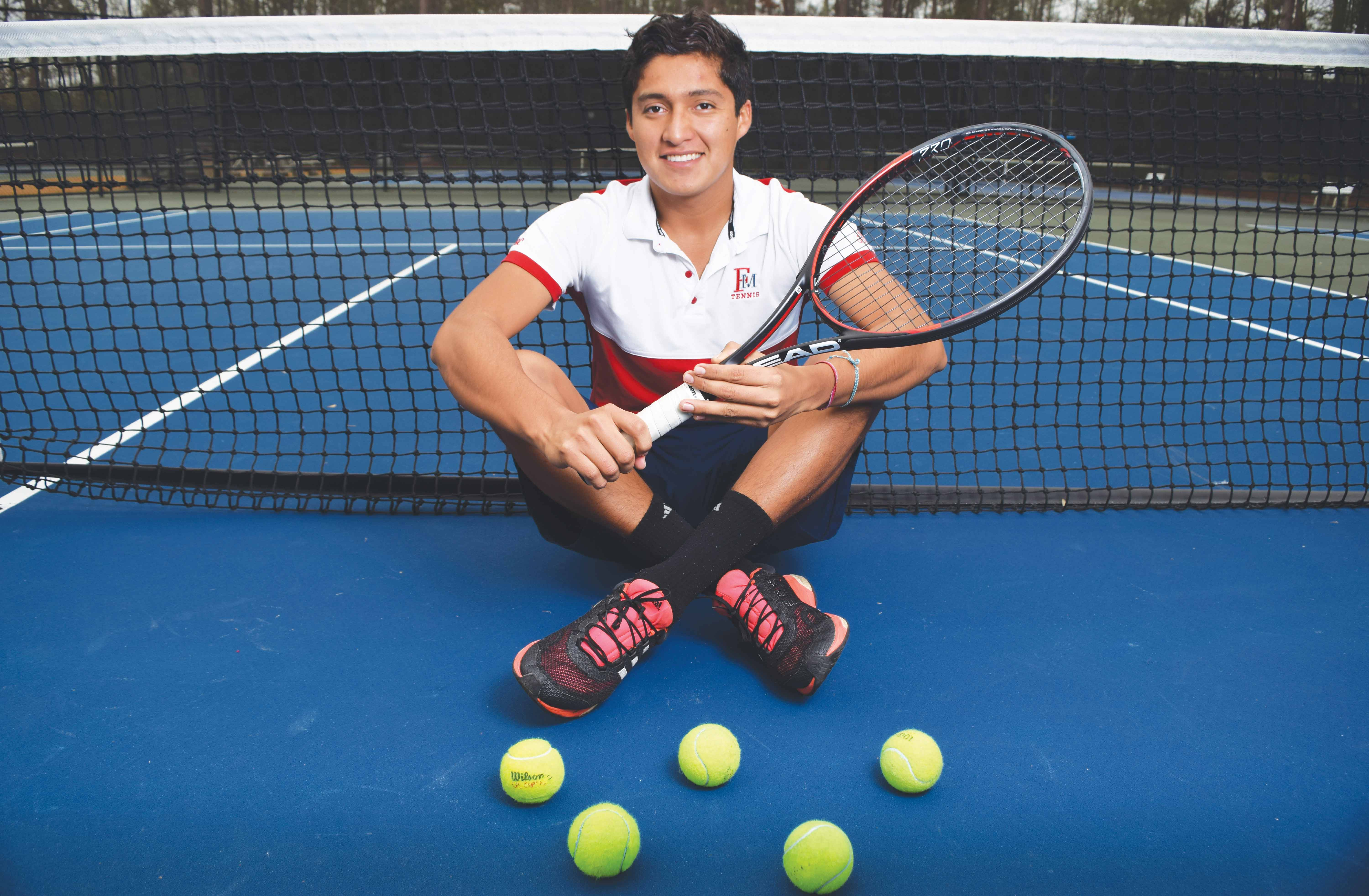 Tennis Player Mauricio Guerrero always wears a bracelet to motivate him to give 100 percent in everything he does, including playing tennis, practicing music and learning a new language.