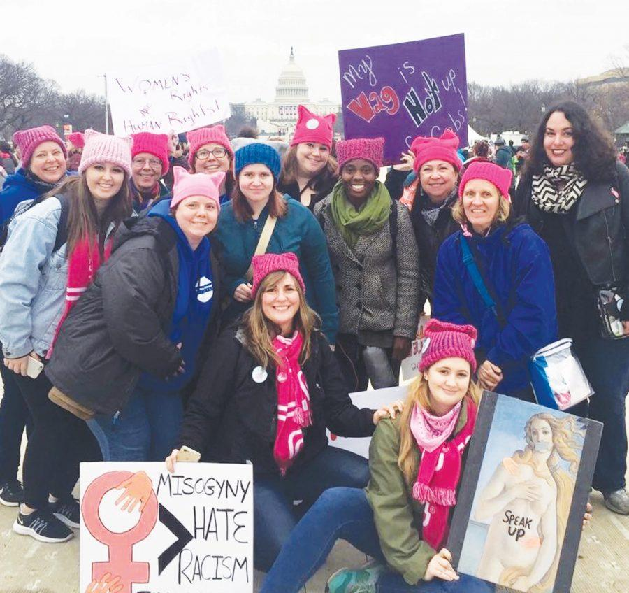 FMU professors advocate for women's rights and equality in Washington, D.C., the day after President Donald Trump's inauguration.