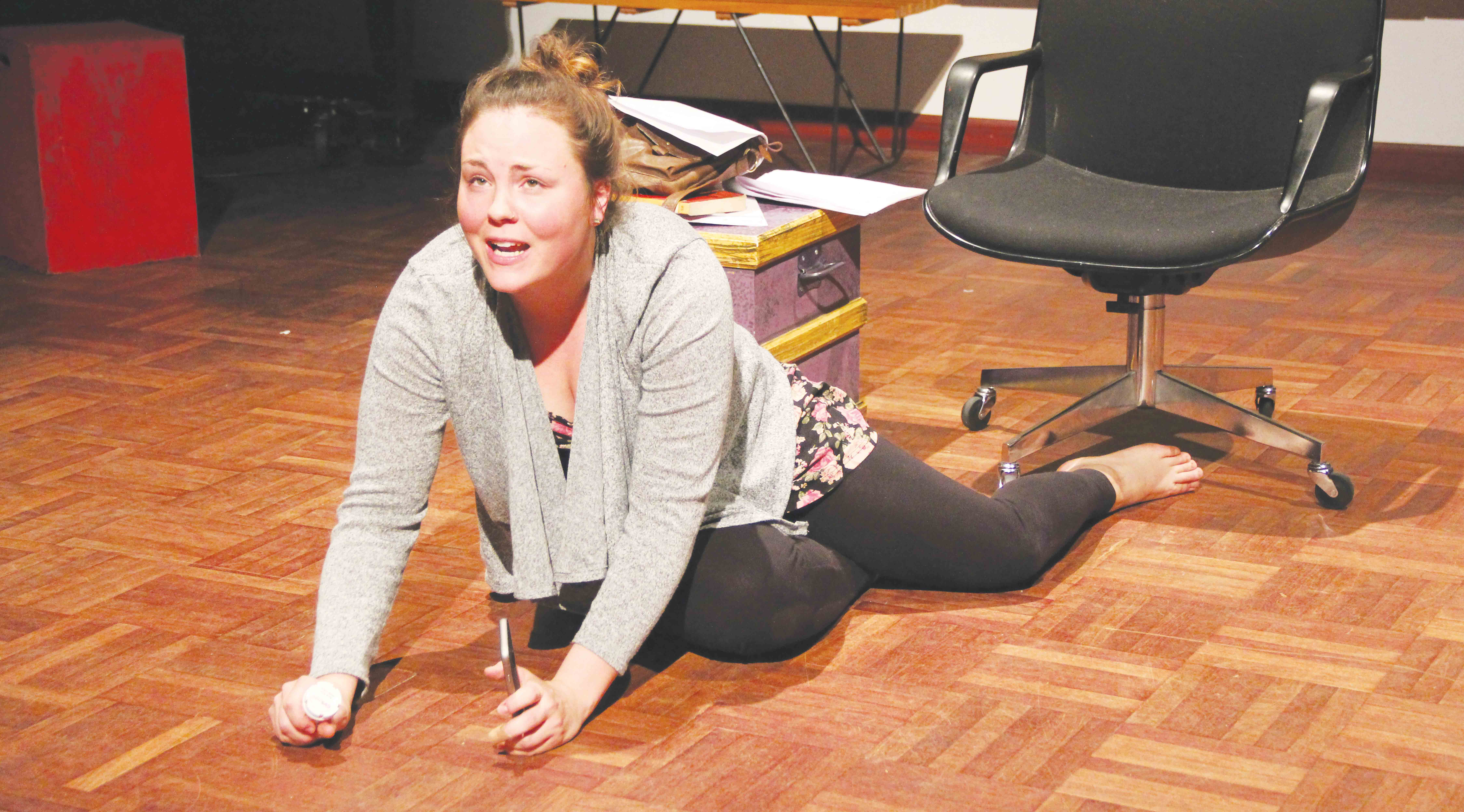 """Brooke Mogy, a recent FMU graduate, performs in """"Carousel"""" as Arabella during a 10-minute play."""