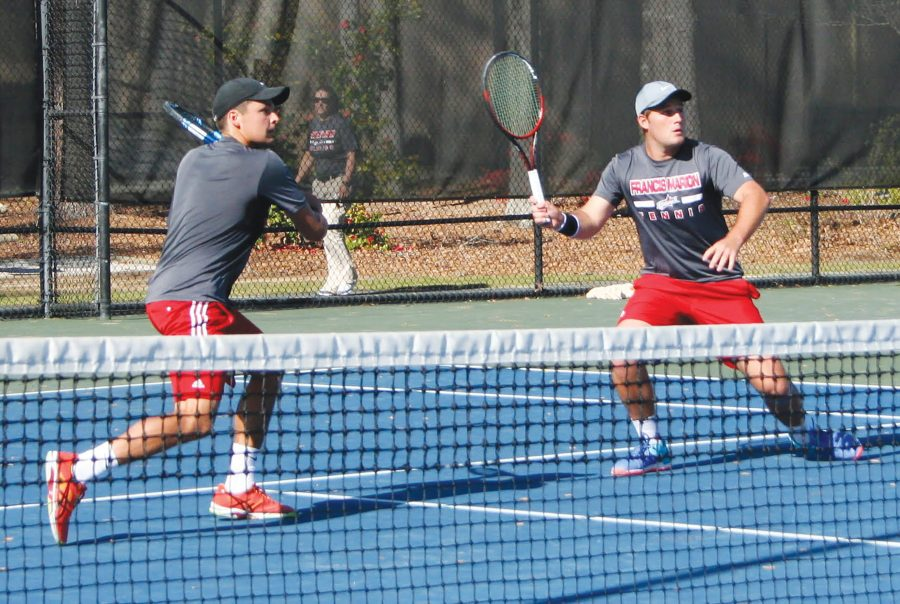 Doubles+partners+Richard+Ashforth+and+Jannik+Roettlingsberger+won+their+doubles+match+8-1+against+Augusta+University.