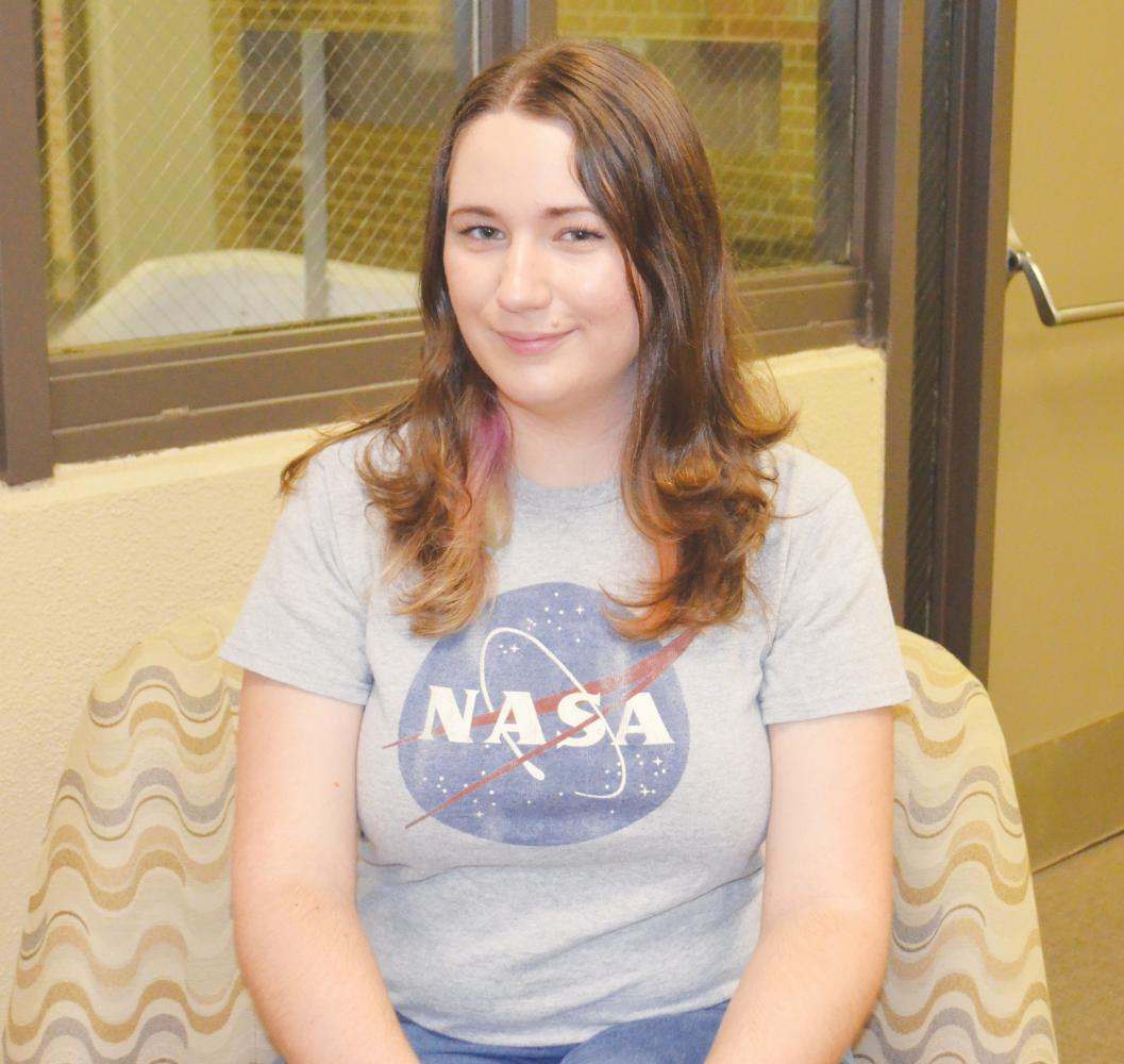 Senior April Garrity studies physics and mathemetics at FMU in hopes of pursuing a master's degree in nuclear astrophysics.