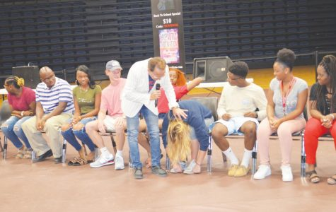 Students undergo hypnosis with Dr. Wand