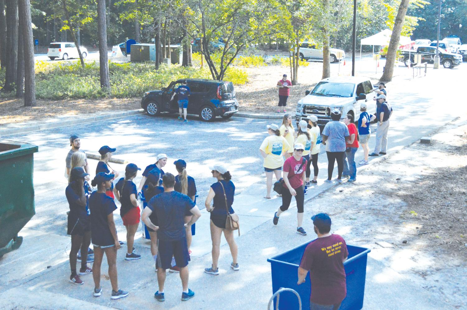 FMU faculty, staff and students help move in 575 new students during the Aug. 19 move-in day.