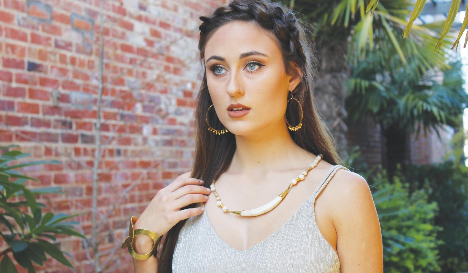 FMU senior Shaina Bazen models for a local business and hopes to continue working in the fashion industry after college