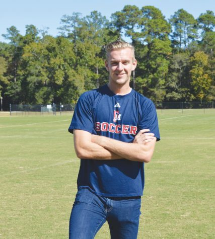 Oliver Drakenhammer adjusts to life in the U.S. by striving to be the best he can be on the soccer field and the classroom.