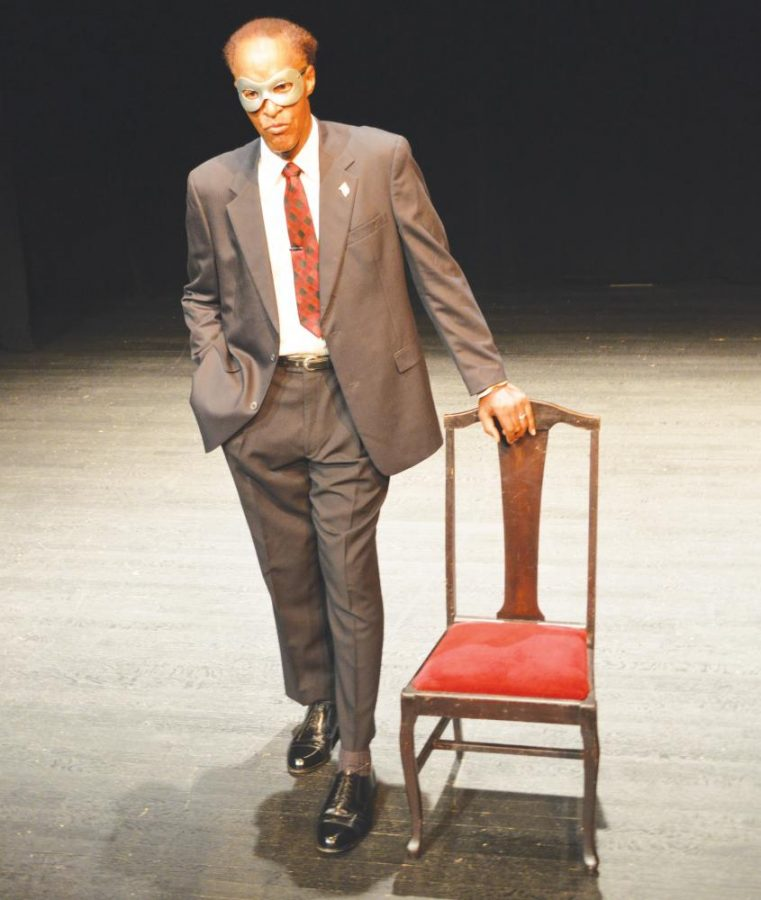 Cedric Liqueur acts as famous lawyer Clarence Darrow. The audience plays the silent role of jury during the one-man show.