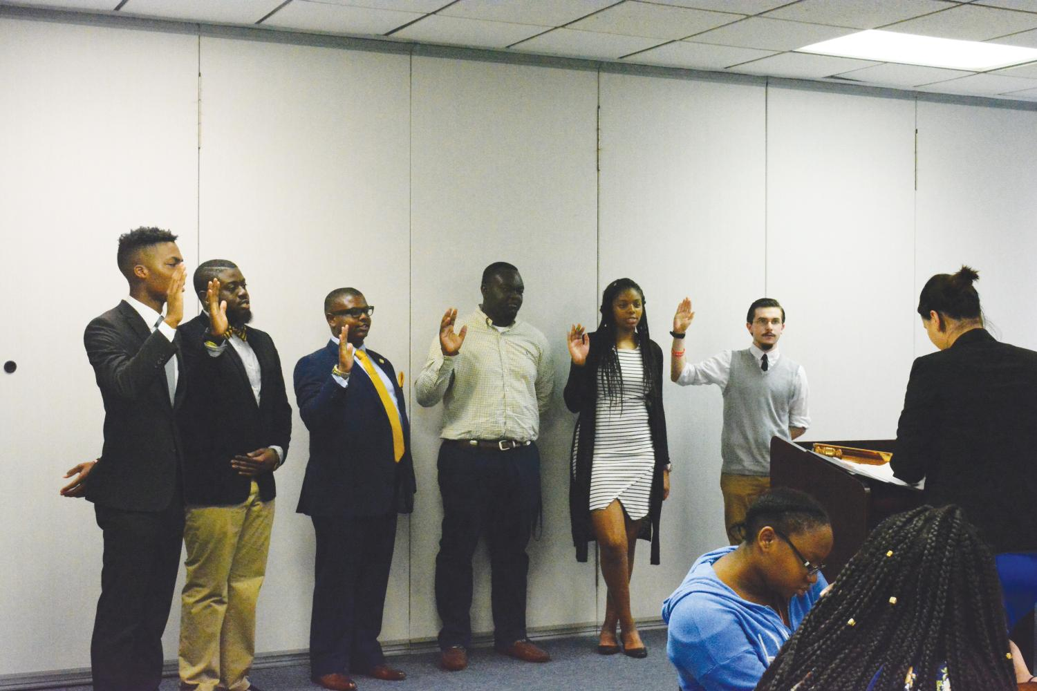 Each year, SGA holds a vote for senate seats. The newly-elected senators swear in for their positions during the Oct. 12 SGA meeting.