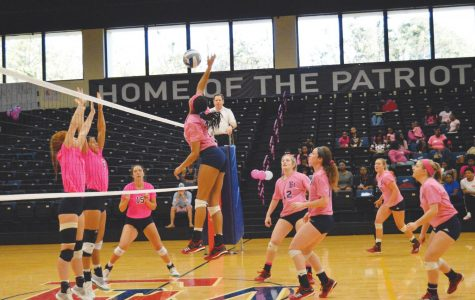 Lady Patriots 'serve pink' for breast cancer