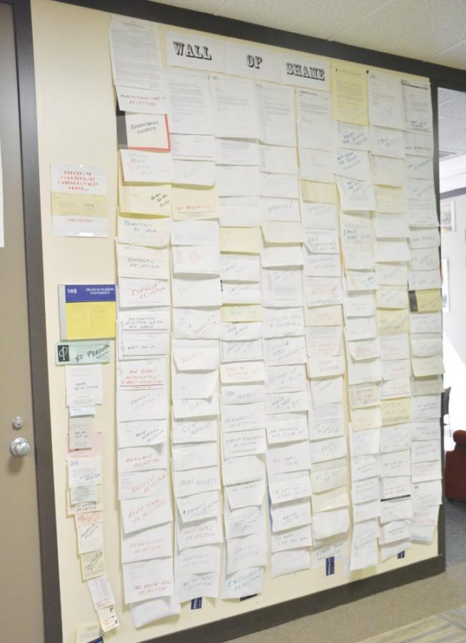 For years, Dr. Jon Tuttle has displayed rejected scripts on the wall beside his office.