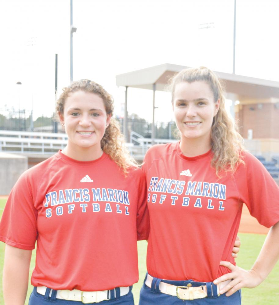Softball players Taylor Johnson and Samantha Wroblewski represent FMU at annual PBC Women in Athletics Conference.