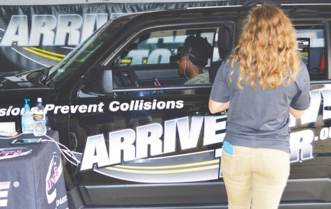 Students learn about distracted driving