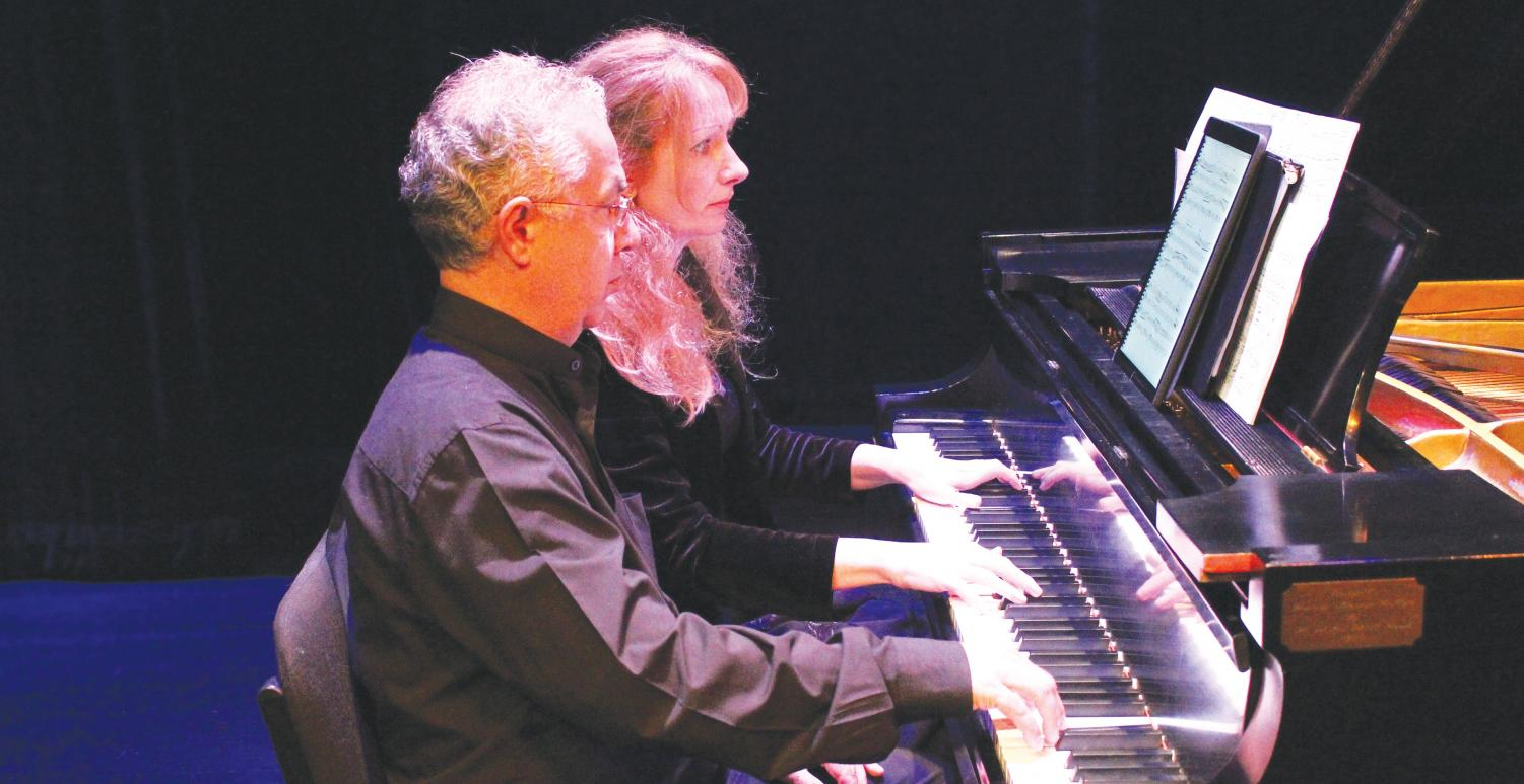Elizabeth Lopartis and Mauricy Martin perform pieces from Johannes Brahms and Franz Schubert during the South Carolina Chamber Music Festival.