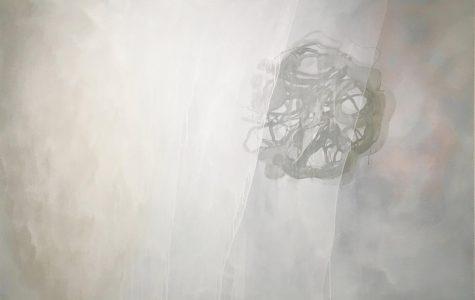 Gallery display, artwork conveys human condition