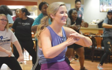 Students shake off hurricane with Zumba