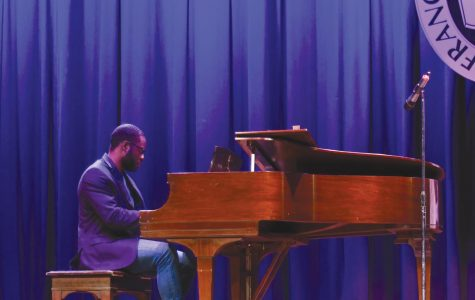 Donzell Bailey received his spot in FMU's got talent when event directors heard him playing the piano.