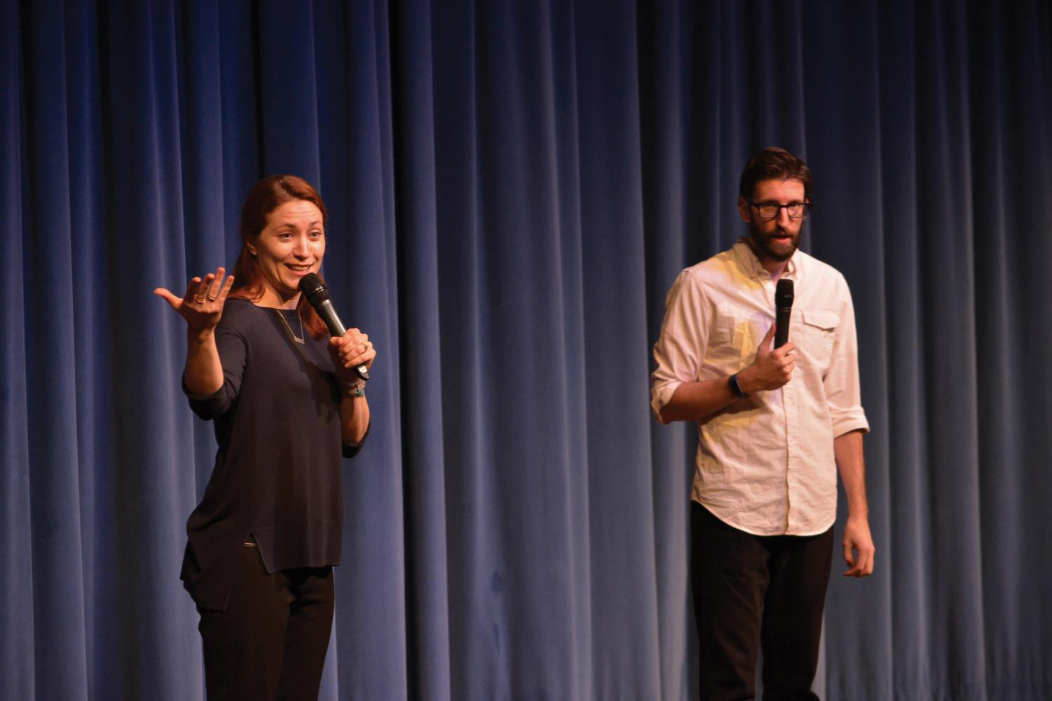 Briana Hanson and Caleb George teach consent through comedy.