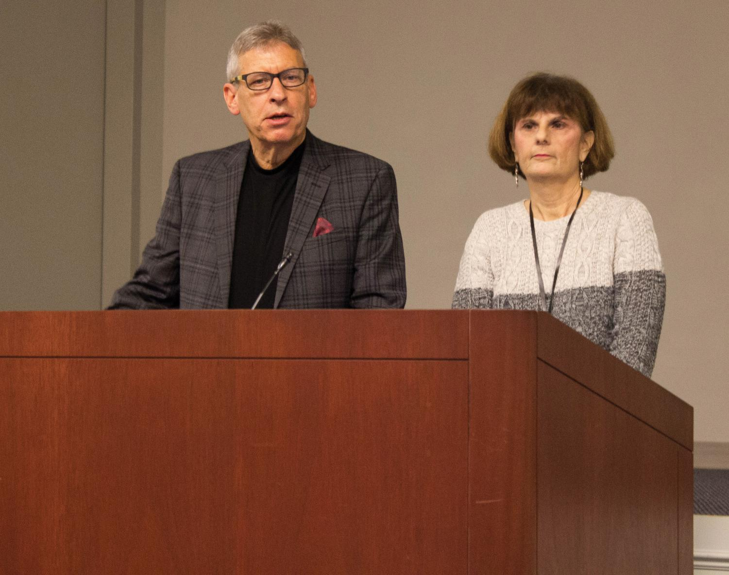Henry and Minda Miller remember victims of the Holocaust.