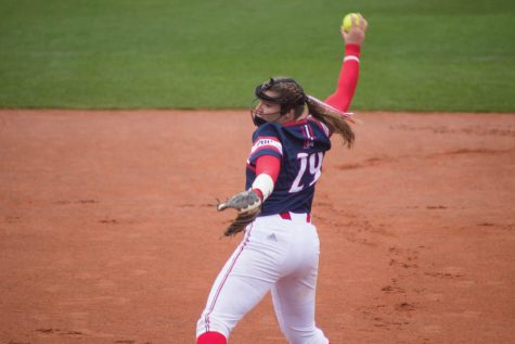 Katelyn Ellard winds up to pitch.