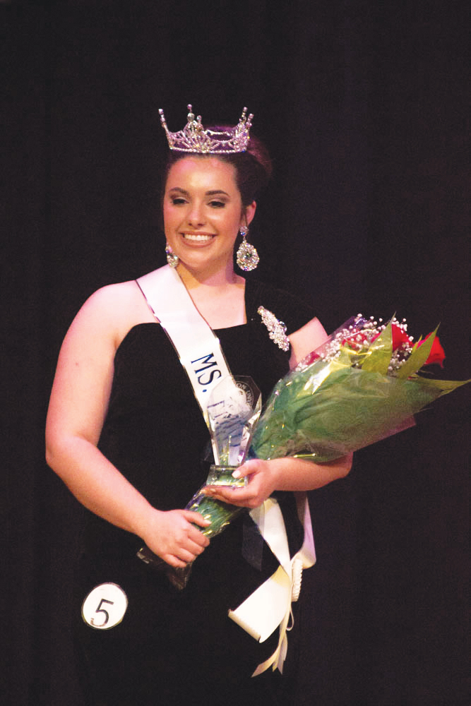 Alexa Williamson smiles after being crowned Ms. FMU 2019.