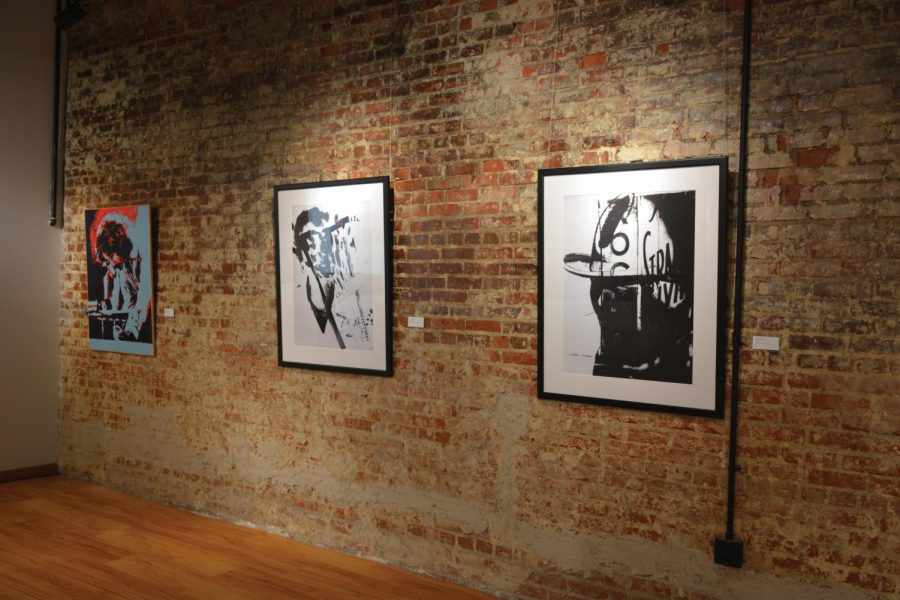From left to right, Patriot Patriarch Steve Gately by Rachel Taylor, Untitled, and Deep in the Heart of by Brandon Harrington.
