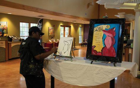 Students build community and paint goals