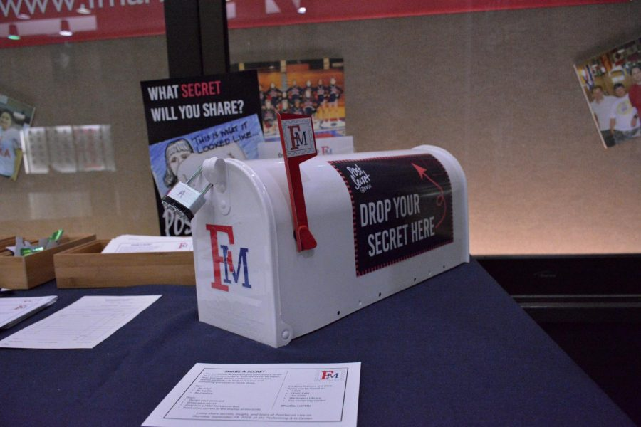 A secure mailbox sits on a table ready for secrets to be submitted.