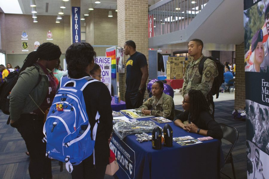 Students learn more about ROTC.