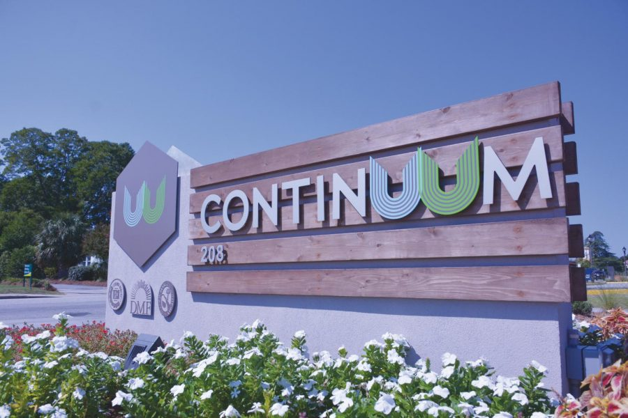 The sign for the Continuum.