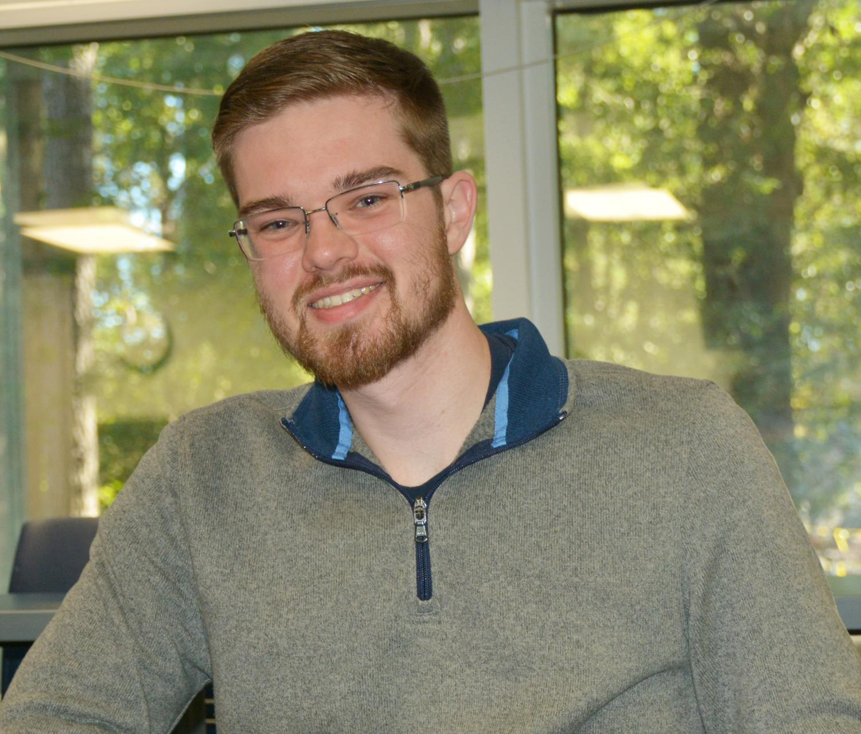 Jonas Smith, a health physics major, has had a passion for physics since high school.