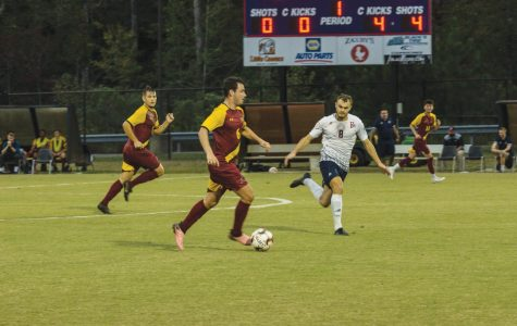 Men's soccer celebrates senior night with a win