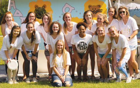 Alpha Delta Pi members gather together for their