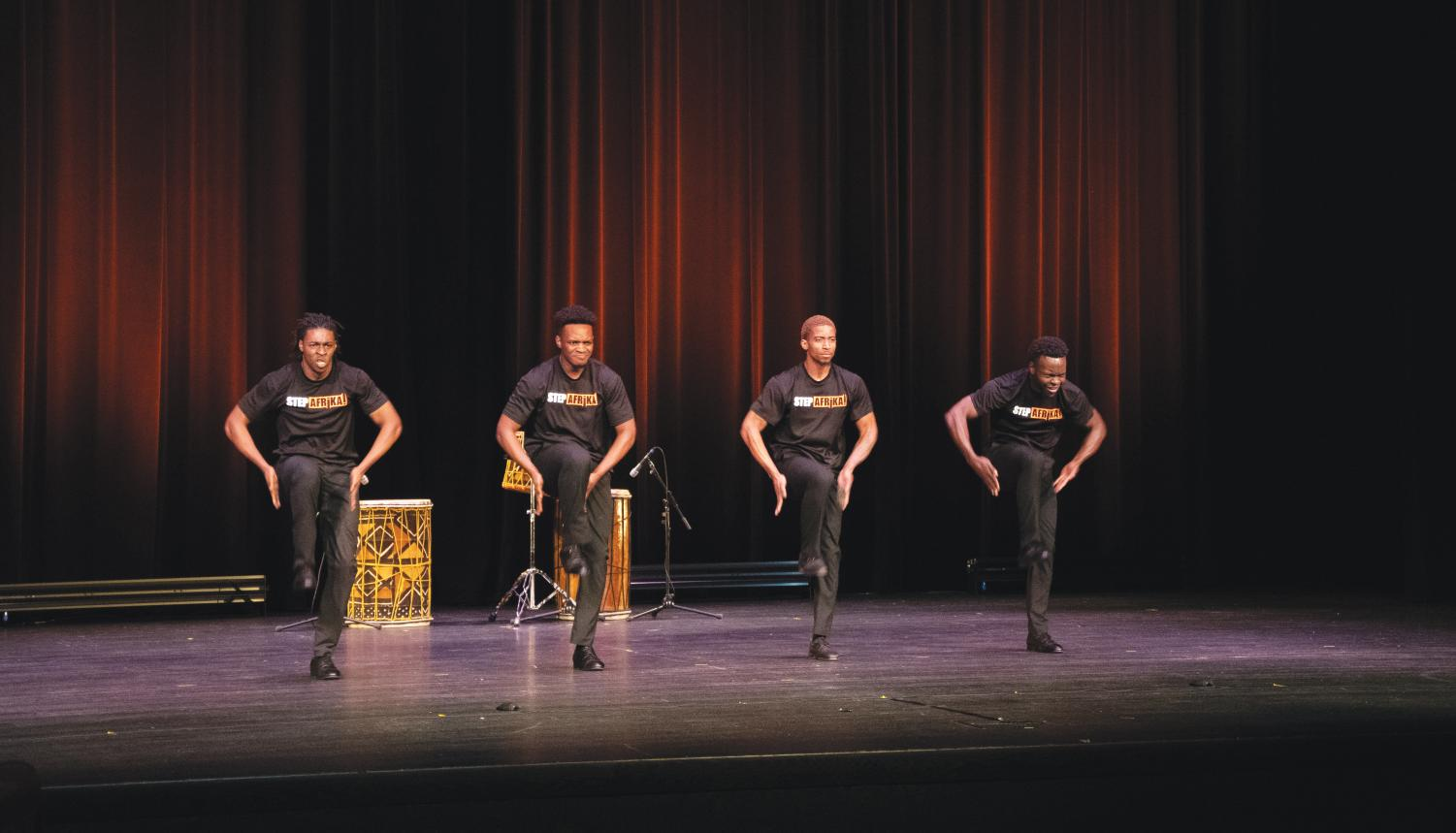 Step Afrika wows the crowd with their performance.
